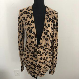 Victoria's Secret PINK leopard cardigan L